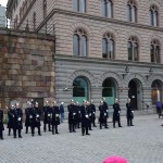 guards next to the Royal Palace