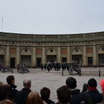 Changing of the guard in the courtyard