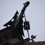 the German Church - water spout