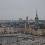 view from the observation tower - Gamla Stan