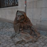 one of the many statues in Stockholm