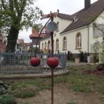 cherry decorations around town