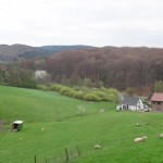 pretty farm area along the trail