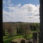 Blarney Castle - view out the window