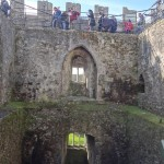Blarney Castle - people waiting in line to kiss the Stone