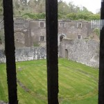 Cork City Gaol  - view of the yard where they walked in circles for exercise- no talking.  Just like Downton Abbey!