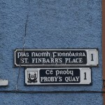 all the signs in Ireland had the Irish name over the English name