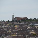 St. Anne's Shandon Church - view from the top. This is the Monastery next to where Deborah lives.