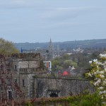heading down the hill to Cork City Gaol (here you can see the outer wall)