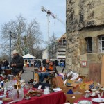 Flohmarkt - the man we bought our painting from