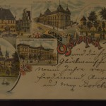 1896 postcard close up - it has pictures of some of the famous buildings around town