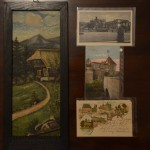 painting and post cards from Hanover (top post card - 1936, middle postcard - 1918, bottom post card 1896)