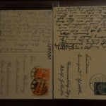 the back of the 1918 (left) and 1936 (right) post cards