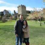 At the Blarney Castle on a beautiful day!  A nice couple from San Francisco took our picture.