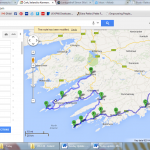 Here's a map of our route on Friday!