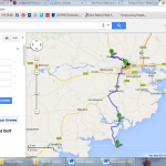 a map of where we went on Thursday - by bus up to Blarney and with Shaun out to Kinsale/ Old Head