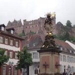 the view of the Schloss from Kornmarkt