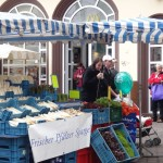Hauptmarkt - farmers market- complete with a spargle stand!