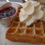 our afternoon coffee and waffle break