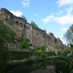 in the Grund - looking up at the Casemates