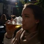 enjoying a beer in the Grund