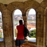 checking out the view from Fisherman's Bastion
