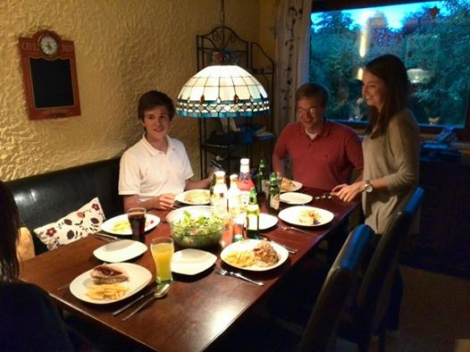 Dinner at the Oswalds'