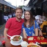 dinner alfresco at the Naschmarkt