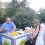 street vendor with delicious corn!