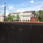 Parliament  - wall with bullet holes
