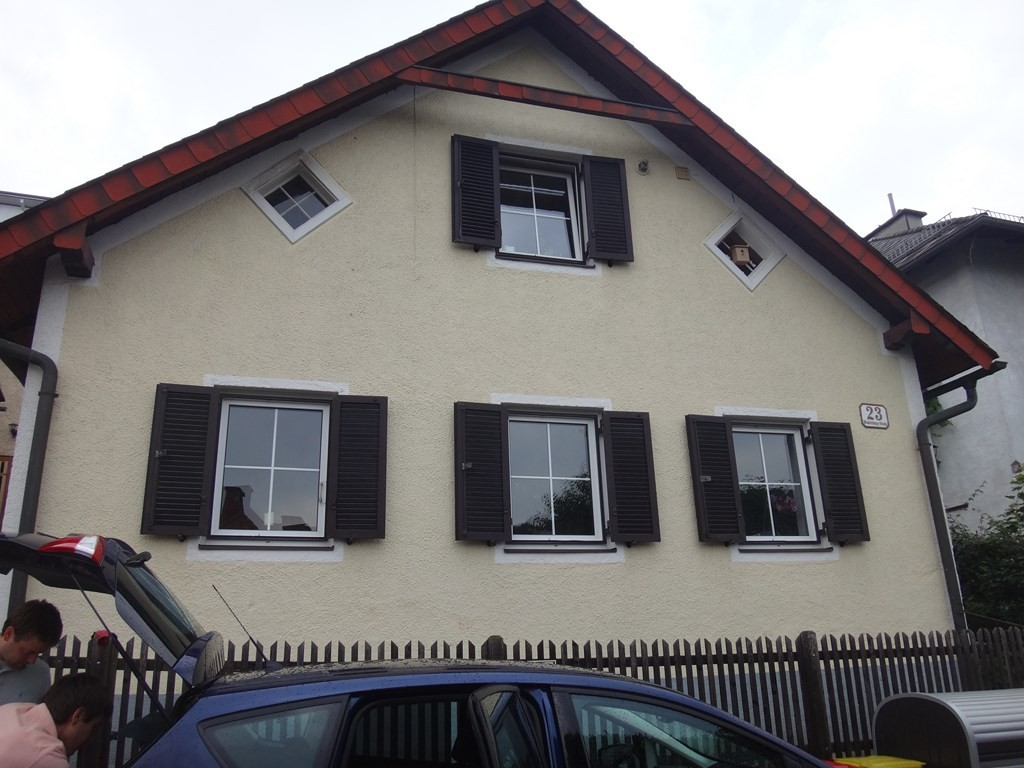 the house we stayed at in Gmunden
