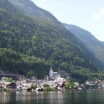 the view of Hallstatt from the ferry