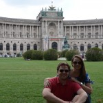 Heldenplatz - with the New Castle behind us