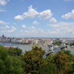 view of the Danube and the Chain Bridge