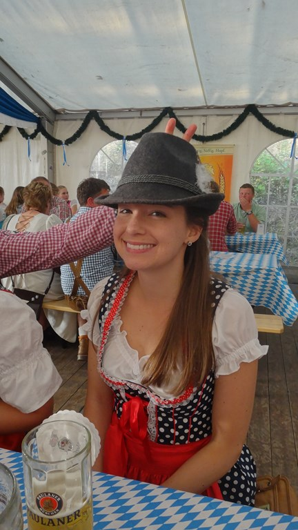 Austrian hat and bunny ears...
