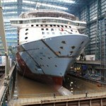 Meyer Werft - an updated picture - from when the Quantum of the Seas was finished