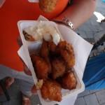 Kibbeling - Fried fish for breakfast in Enschede.