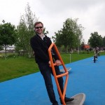 Landesgartenschau - trying out the play ground equipment