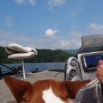 Maggie's first time on the boat.