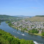 the view from  Landshut castle - Mosel river below