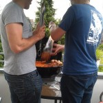 grilling in the rain, one of the biggest German past times..