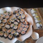 Our first stab at homemade sushi.