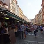 market outside the restaurant