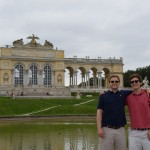 the boys in front of Gloriette