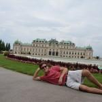 Belvedere Palace - Mathias striking a pose!